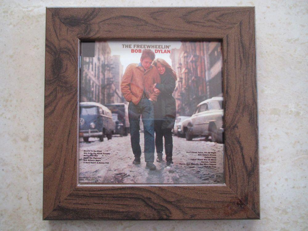 Bob Dylan   The Freewheelin'      Framed Original CD Album Sleeve    Walnut