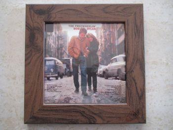 Bob Dylan   The Freewheelin'      Framed Original CD Album Sleeve    Walnut Frame