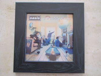 Oasis   Definitely Maybe    Framed Original CD Album Sleeve     Black Frame