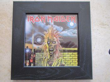 Iron Maiden   Framed Original CD Album Sleeve    Black Frame