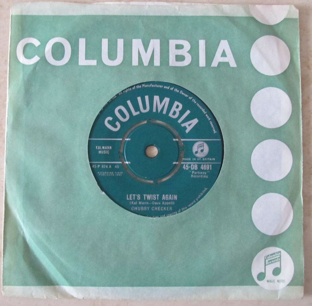 Chubby Checker Let's Twist Again 1961 Columbia 7