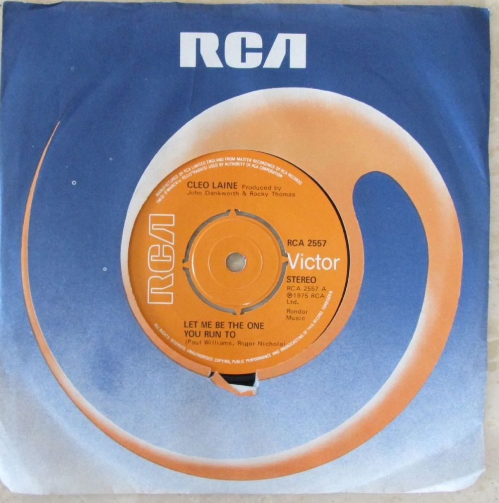 Cleo Laine Let me be the one you run to 1975 RCA 7