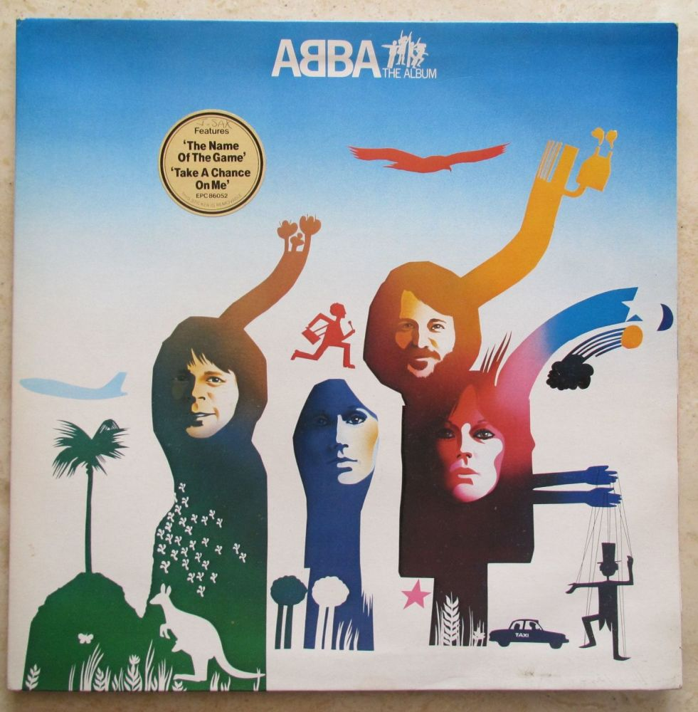 Abba The Album 1977 Epic Vinyl LP