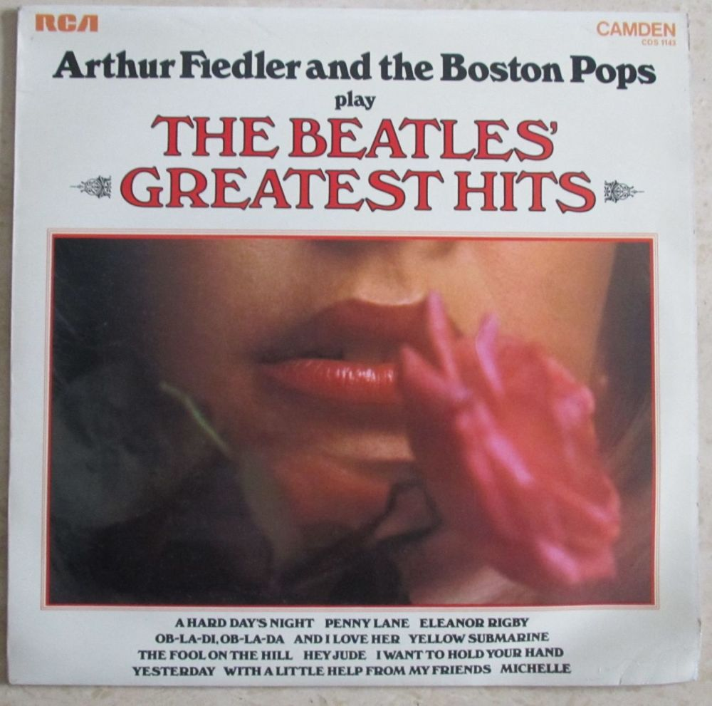 Arthur Fiedler and the Boston Pops play The Beatles Greatest Hits 1971 Viny