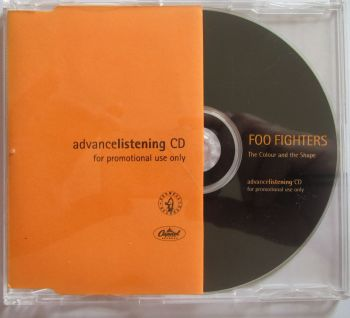 Foo Fighters The Colour and The Shape Advancelistening CD
