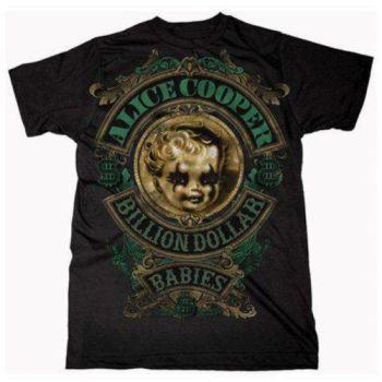 Alice Cooper Billion Dollar Baby Crest official licensed T-shirt Black
