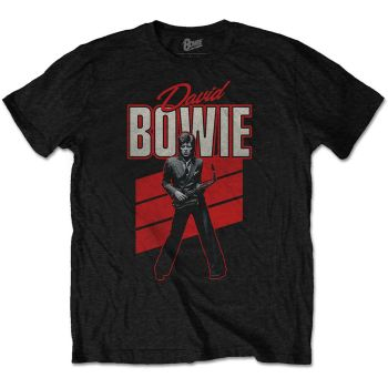 David Bowie Red Sax official licensed t-shirt Black