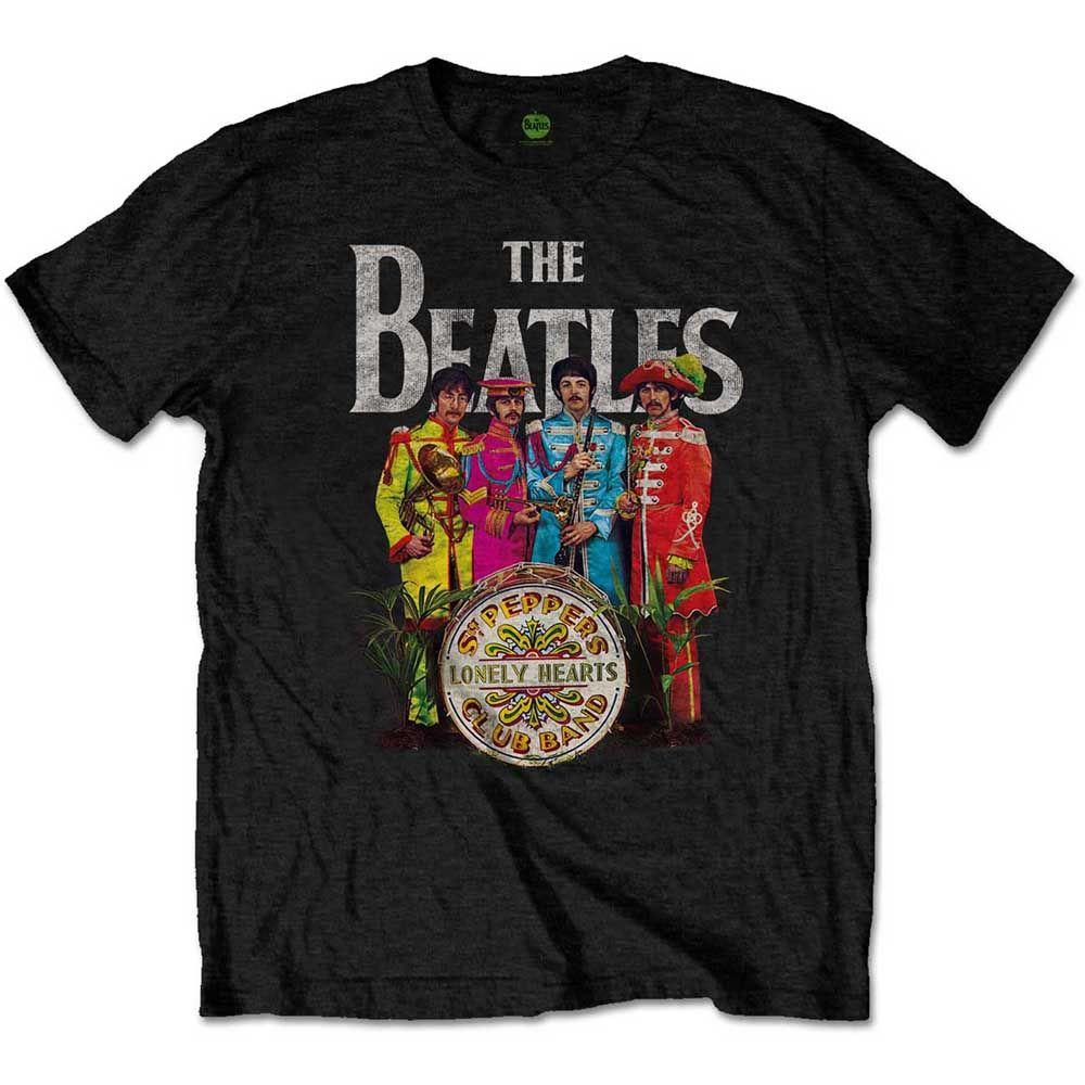 Beatles Sgt Pepper unisex official licensed t-shirt black