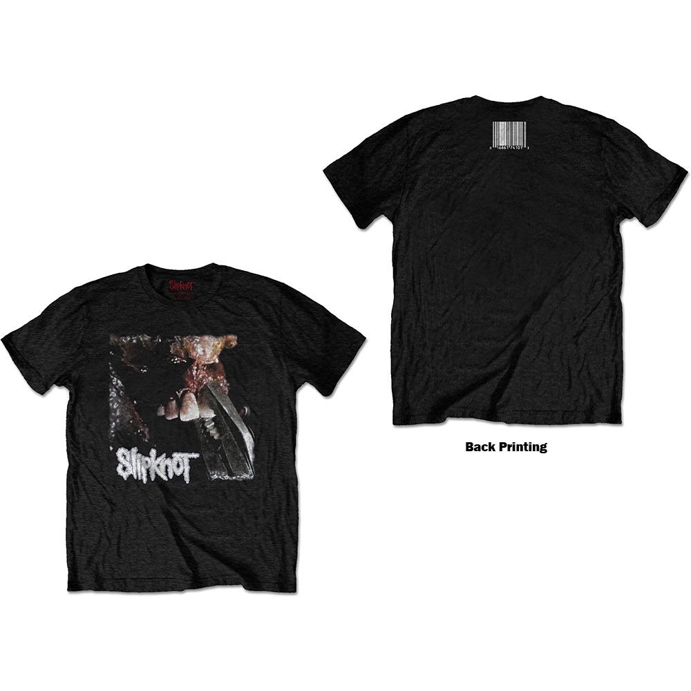 Slipknot Pulling teeth (Back print) official licensed t-shirt Black