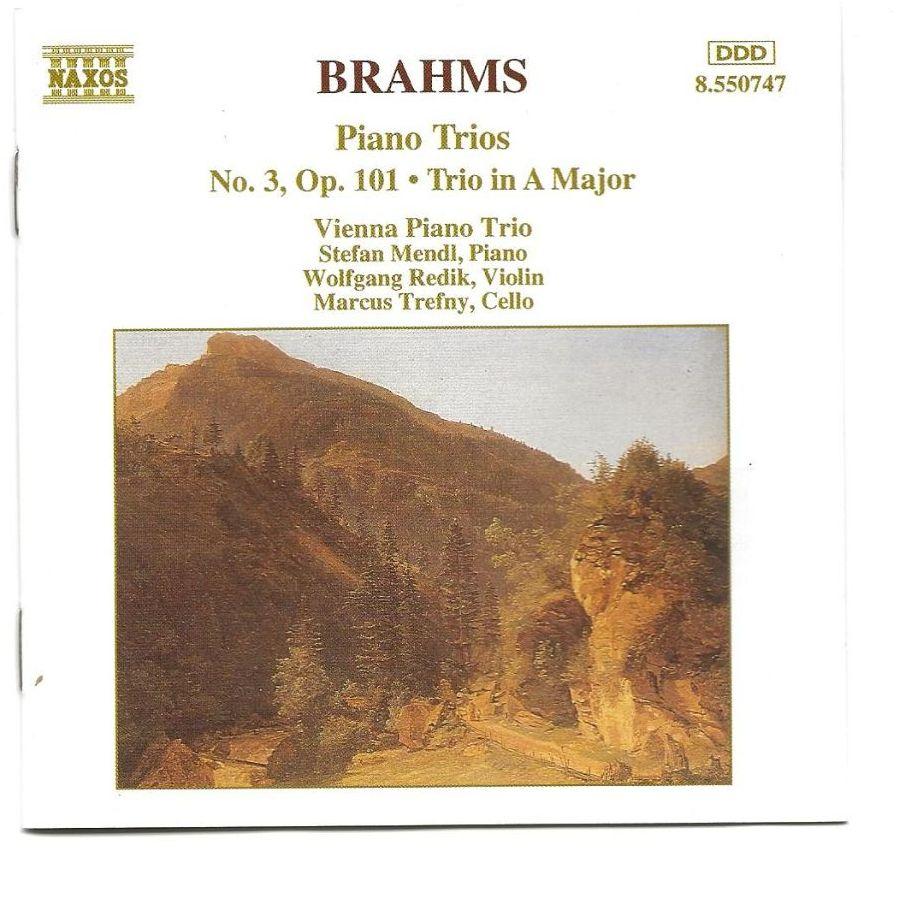 Brahms     Piano Trio No.3 .Trio In A Major     CD