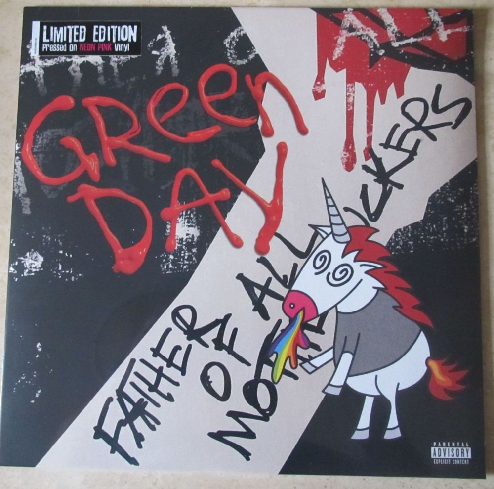 Green Day Father of All... Limited Edition Neon Pink Vinyl