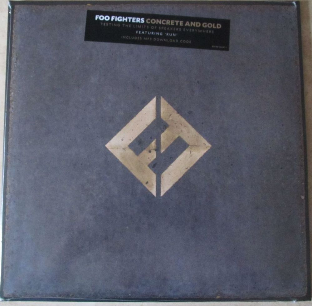 Foo Fighters Concrete and Gold 3 side Gatefold vinyl LP + MP3 code