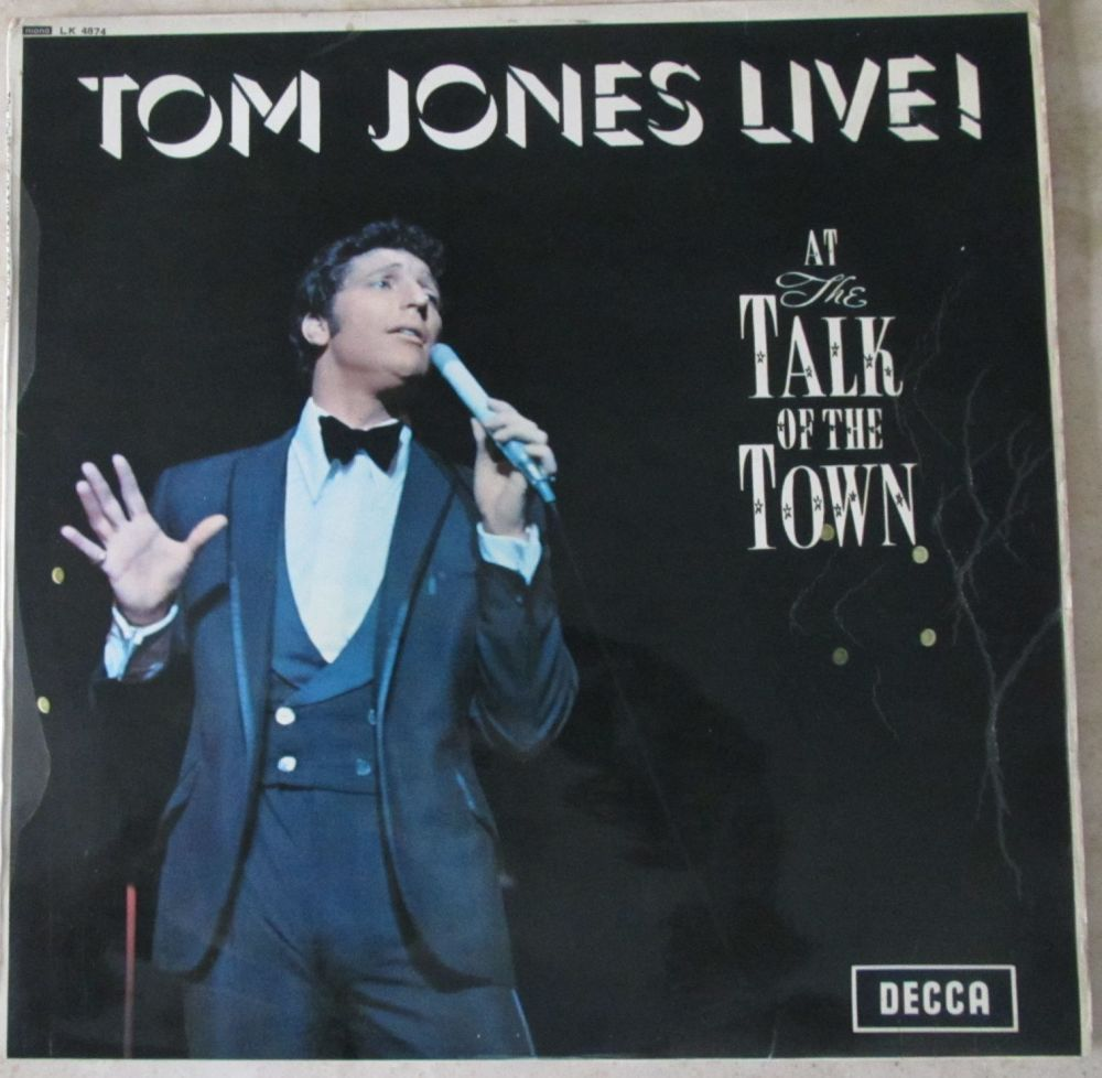 Tom Jones      Live !       1967 Mono  Vinyl LP     Pre-Used