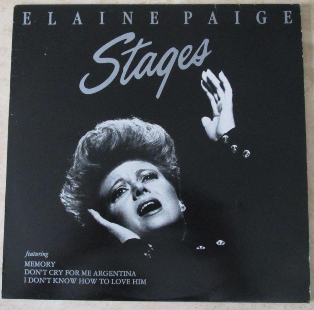Elaine Paige  Stages Vinyl LP with lyric inner sleeve