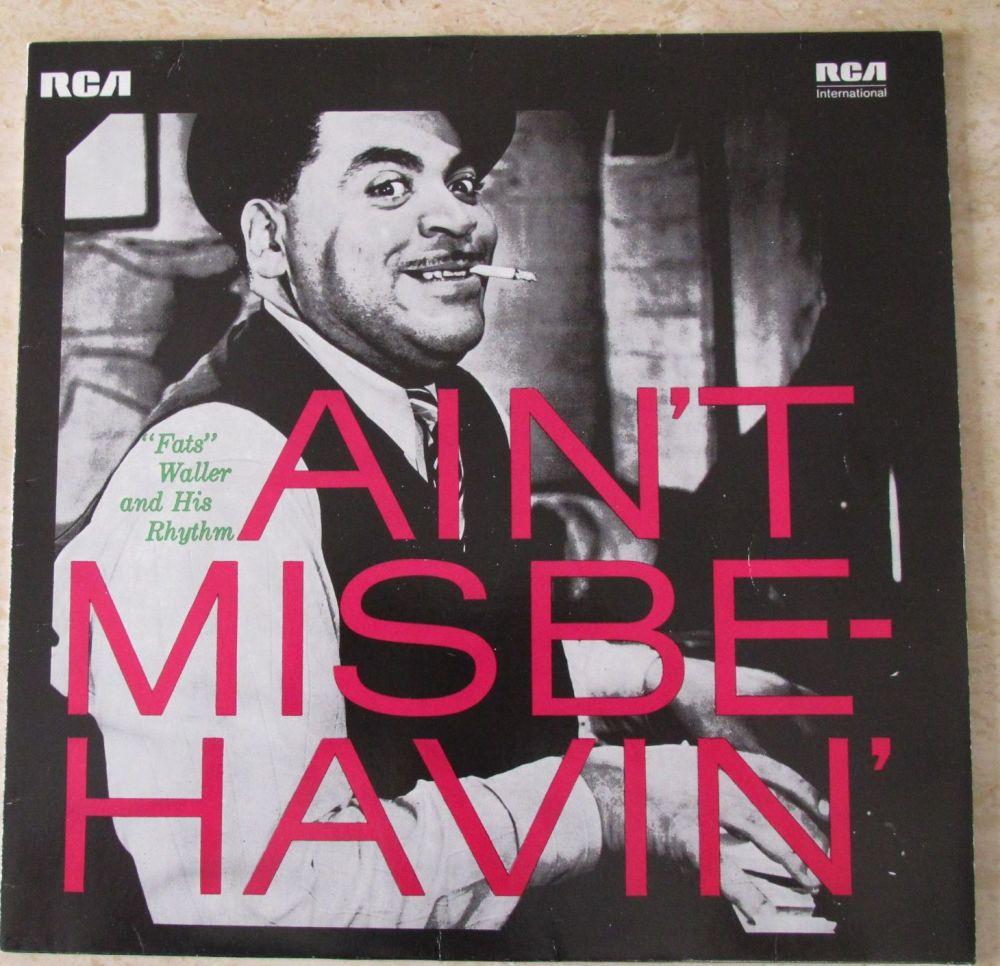 Fats Waller and his Rhythm  Ain't Misbe-havin' 1982 Vinyl LP