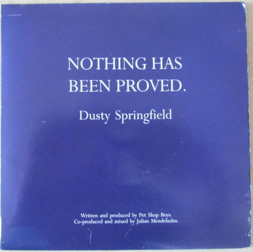 Dusty Springfield Nothing has been proved gatefold 7