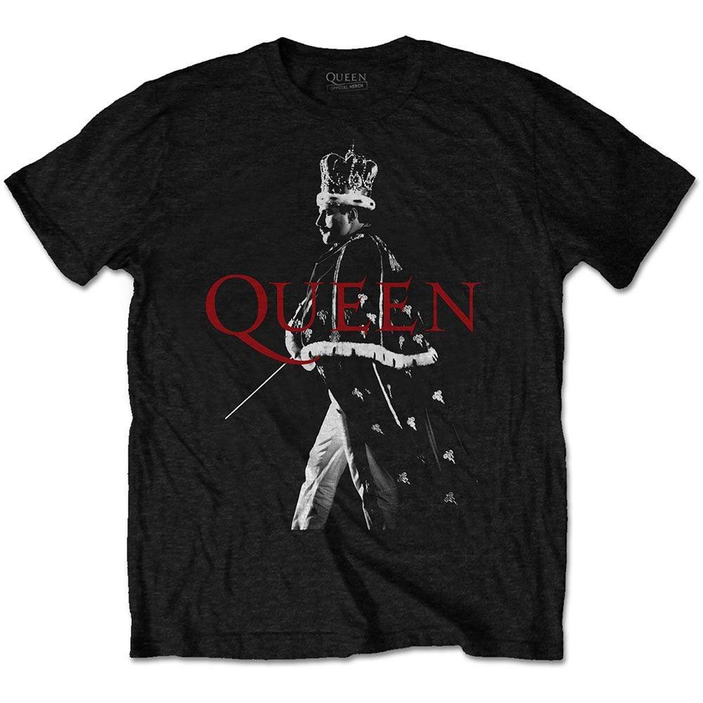 Queen Unisex Freddie Crown Official Licensed T-shirt Black