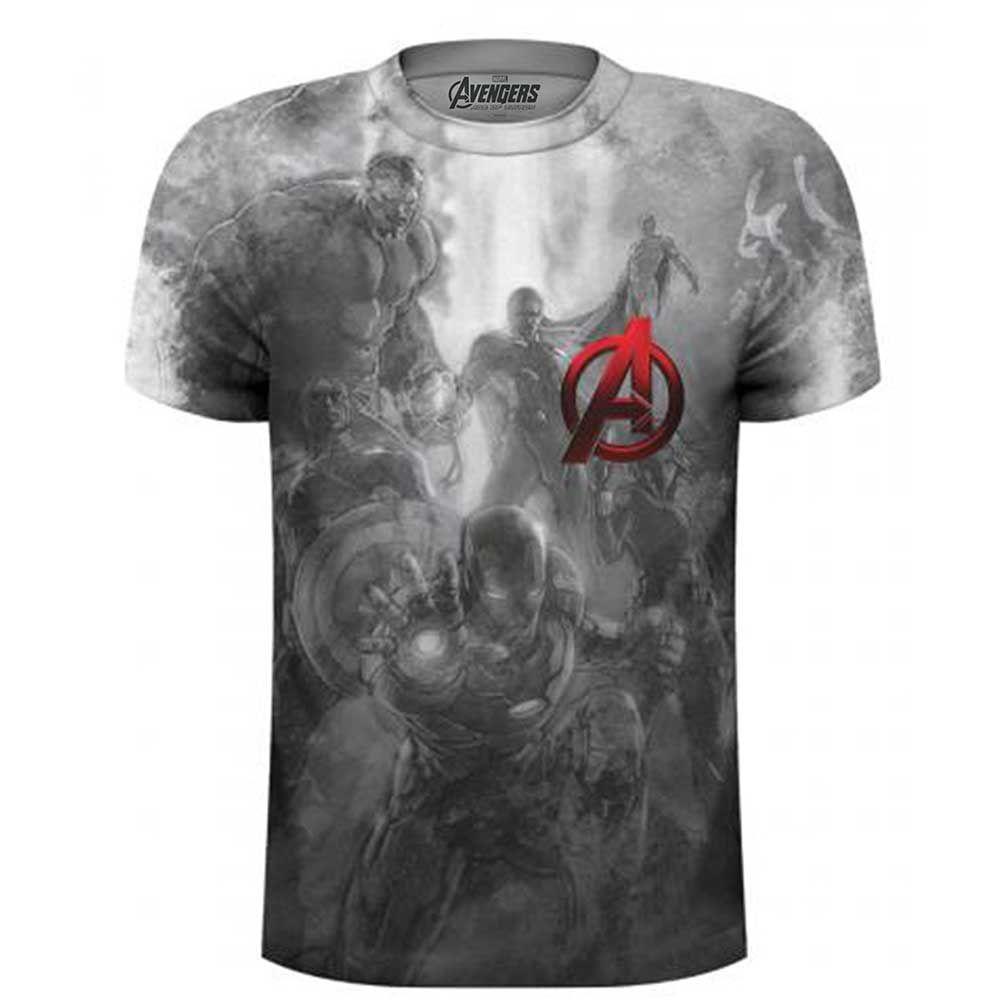 Marvel Comics Unisex Tee: Avengers Montage Pocket Logo (Sublimated) (XXL on