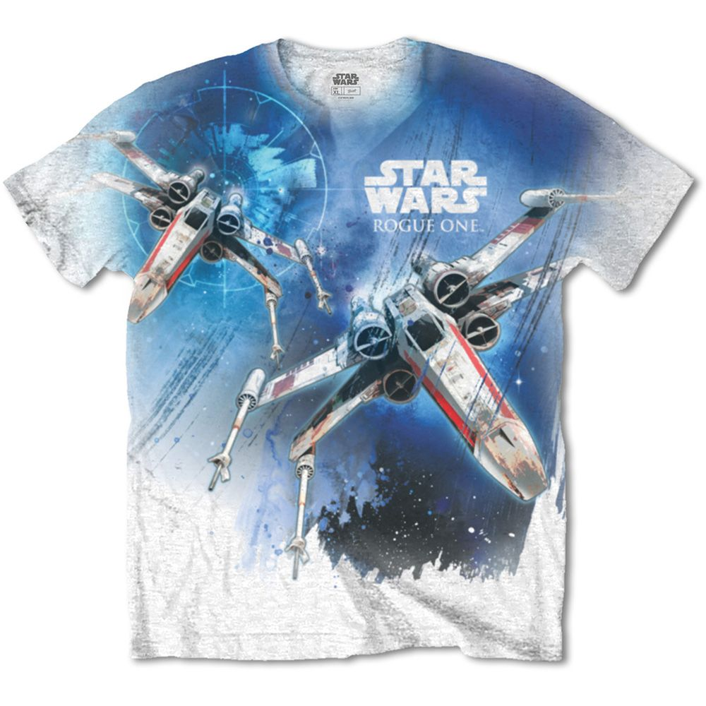 Star Wars Unisex Tee: Rogue One X-Wing (Sublimated) (Medium Only)