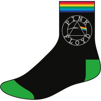 Pink Floyd Unisex Ankle Socks: Circle Logo (UK Size 7 - 11)