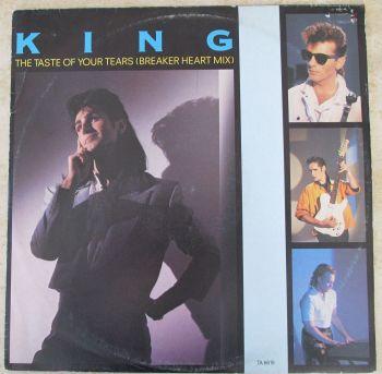 """King The Taste of Your Tears (Breaker Heart Mix) 1985  12"""" Single"""