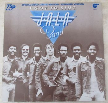 """Jaln Band I Got to Sing 1977 Special Disco Limited Edition 12"""" single"""