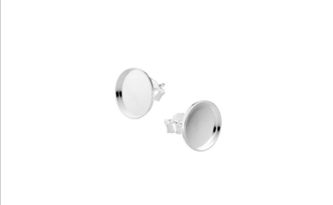 Solid silver inclusion earings