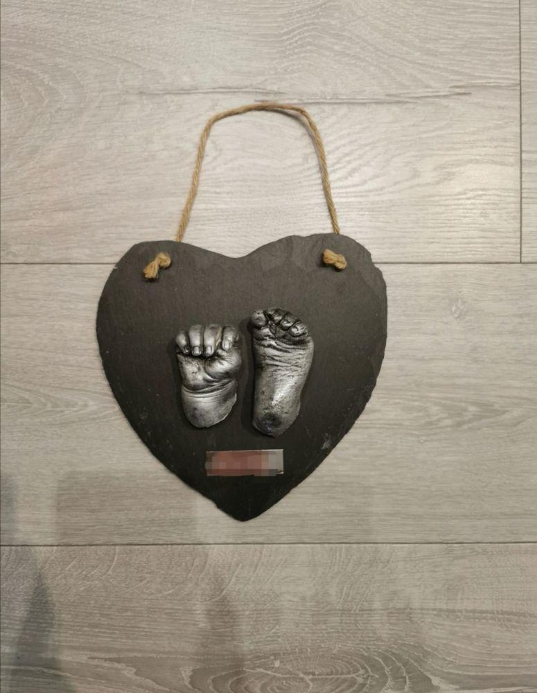DIY Hanging Heart Slate Casting