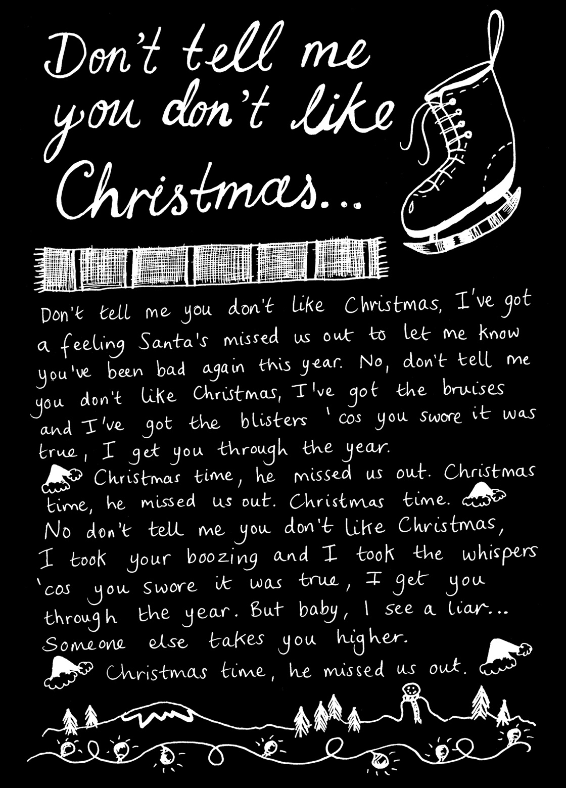 Don't Tell Me You Don't Like Christmas Lyrics