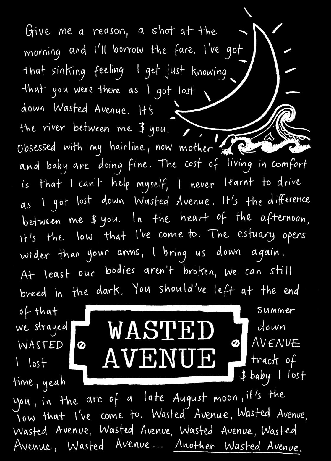 Wasted Avenue Lyrics