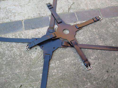 Spare Wheel Strap - Leather Centre