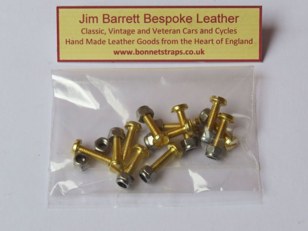 16mm Fixing Screws Brass Pack of 12