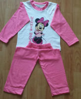 Kids children Girls Disney Minnie Mouse pyjamas suit trouser & top UK 3-4 Years