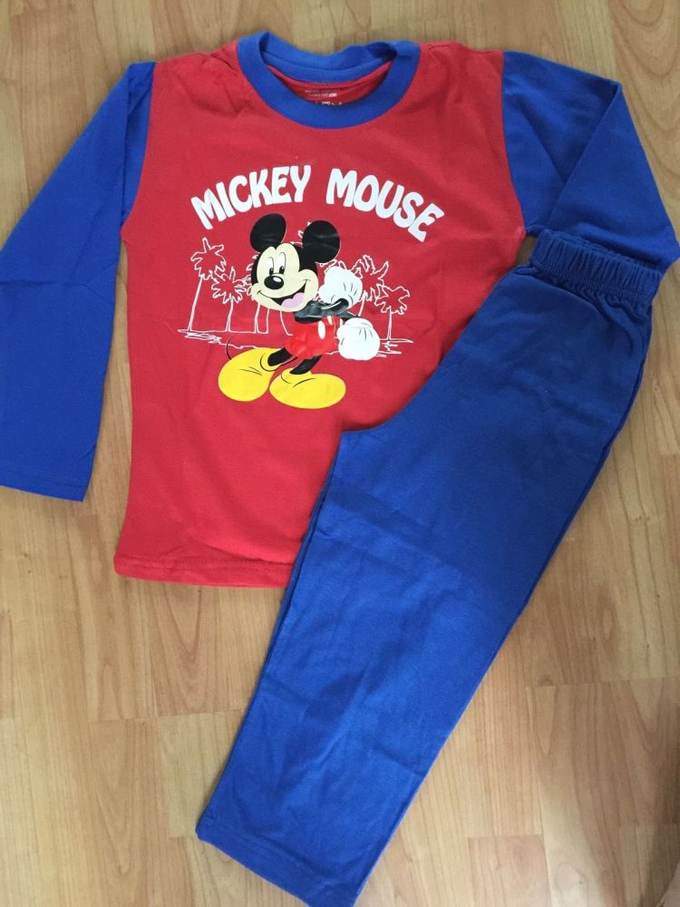 Brand New in Packaging Children Kids Boys Disney Mickey Mouse Pyjamas Suit