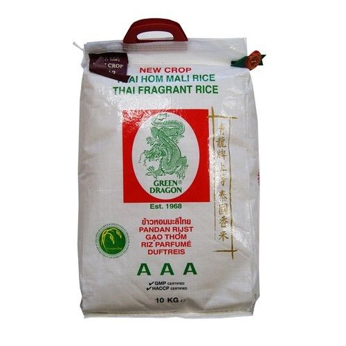 Green Dragon Thai Jasmin Rice 10kg Bags Asian Cooking Vegetarian Indian Foo