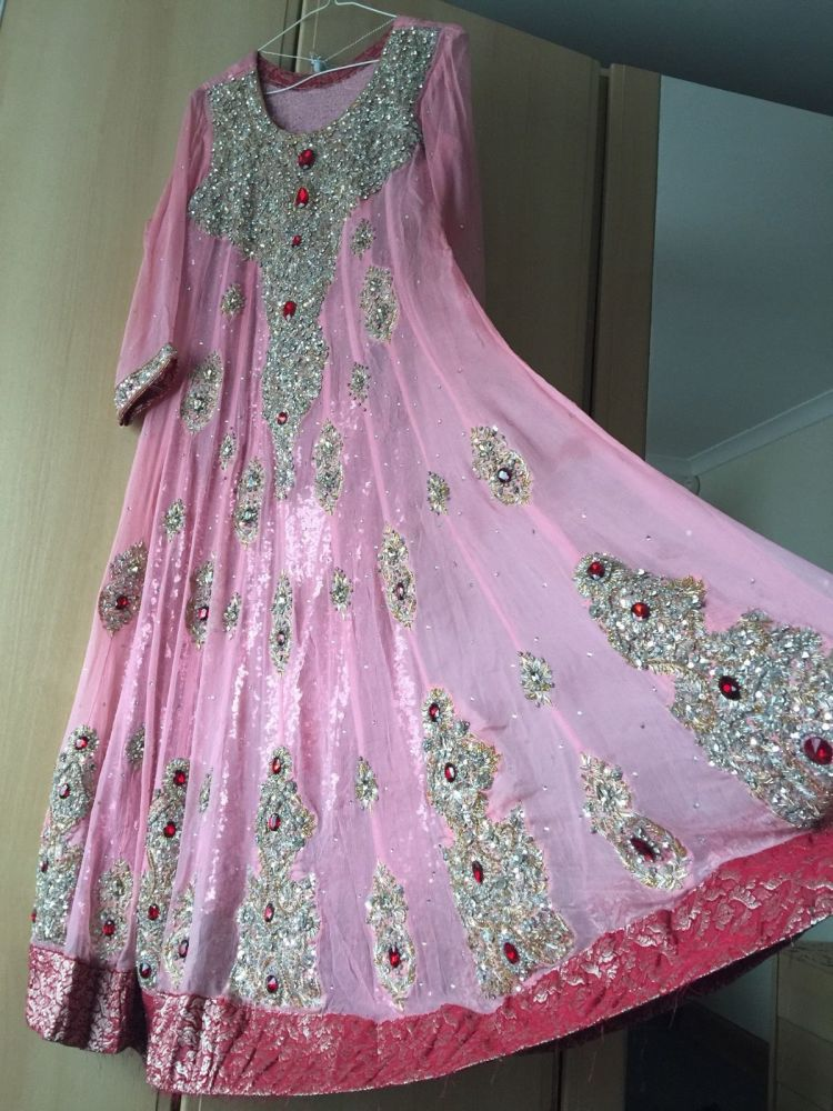 0d8e953a5 Ladies Asian Indian Pakistani Anarkali Wedding Boutique Designer Party Dres