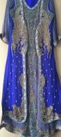 Ladies Women girls Asian Pakistan Indian Wedding Boutique Designer Party Dress Open Shirt Plazo Suit