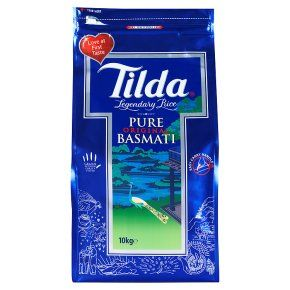 Tilda Basmati Rice 10kg Bag Asian Rice Cooking Vegetarian Indian Pakistani