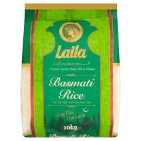 Laila Basmati Rice 10kg Bag Asian Rice Cooking Vegetarian Indian Pakistani Rice Food