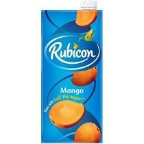 ORIGINAL/GENUINE FRESH JUICE RUBICON MANGO FLAVOUR 1LTR X 12  SHIP FROM UK