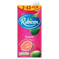 ORIGINAL/GENUINE FRESH JUICE RUBICON GUAVA FLAVOUR 1LTR X 12  SHIP FROM UK