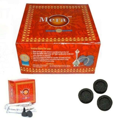 Genuine Mera Coal Tablets Nargila Instant Meera Hookah shisha Disc Charcoal