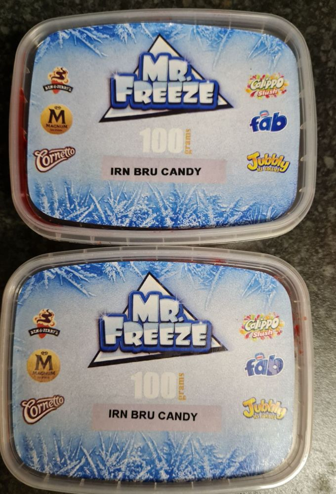 IRN BRU CANDY FLAVOUR 100G x 2 Original Genuine Mr.Freeze IRNBRU CANDY FLAV