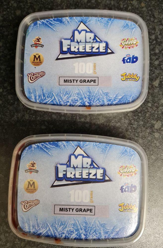 MISTY GRAPE FLAVOUR 100G x 2 Original Genuine Mr.Freeze MISTY GRAPE FLAVOUR
