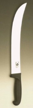 "POLY Steak knife (Scimitar); curved blade 12"""