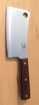 "FULL TANG Cleaver; thick heavy duty 6"" blade"