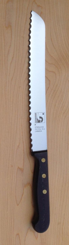 REGULAR Bread knife LEFT -HANDED; serrated blade 8