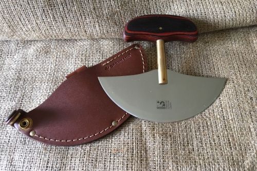 Ulu Knife with Leather Sheath
