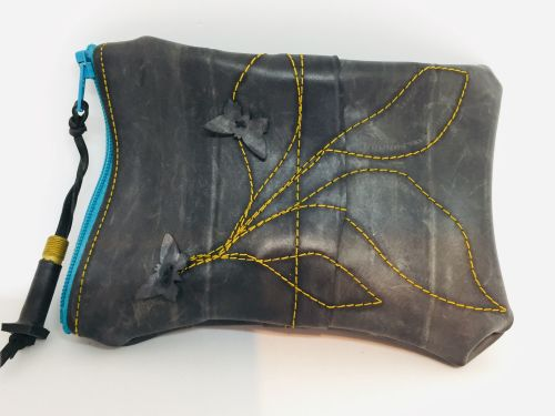 Scribble Stitch and Butterfly Pouch