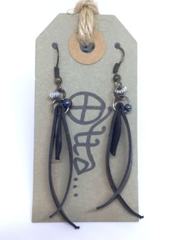 Upcycled Innertube Earrings